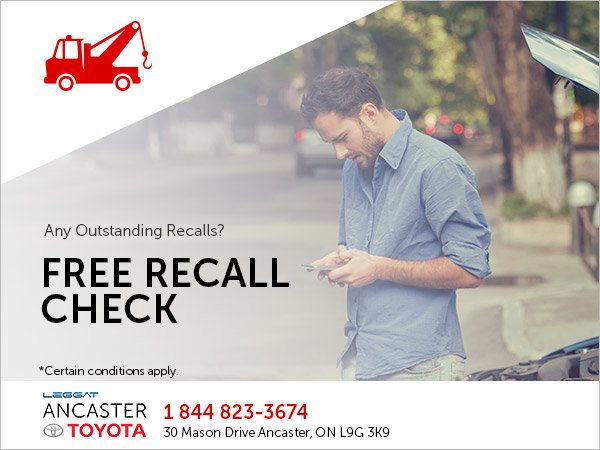Free Recall Check @ Ancaster Toyota Ancaster Dealer ON.
