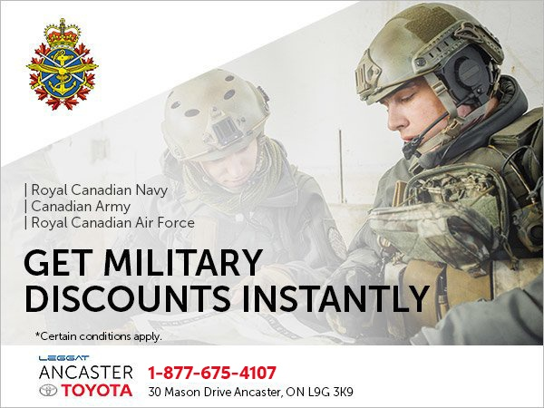 Ancaster Toyota's Military Discount Program