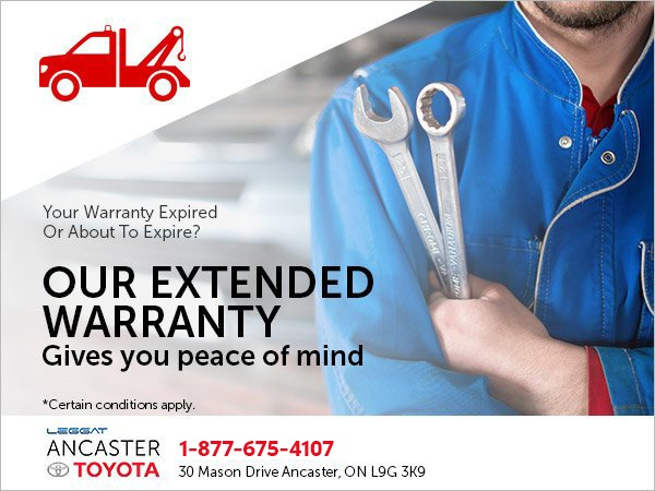 Get Peace of Mind with our Extended Warranty!