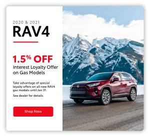 rav4 promotional pop-up